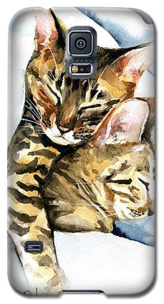 Dreamland - Bengal And Savannah Cat Painting Galaxy S5 Case
