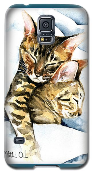 Dreamland - Bengal And Savannah Cat Painting Galaxy S5 Case