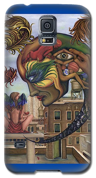 Galaxy S5 Case featuring the painting Dreams Lost The Molting by Karen Musick