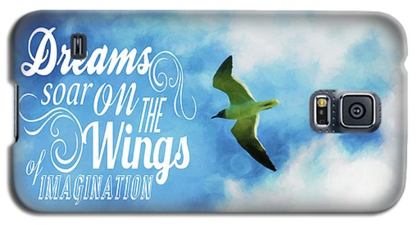 Galaxy S5 Case featuring the photograph Dreams On Wings by Jan Amiss Photography