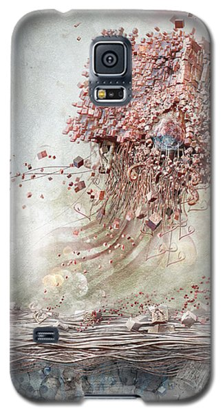 Galaxy S5 Case featuring the digital art Dreamscape Flow No.1 by Te Hu