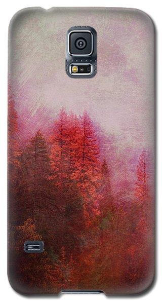 Galaxy S5 Case featuring the digital art Dreamy Autumn Forest by Klara Acel