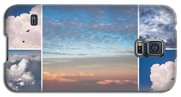Galaxy S5 Case featuring the photograph Dreamy Clouds Collage by Jenny Rainbow
