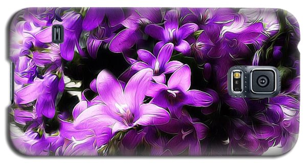Galaxy S5 Case featuring the mixed media Dreamy Flowers by Gabriella Weninger - David