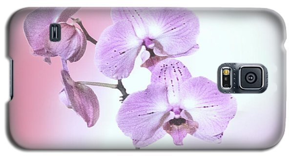 Galaxy S5 Case featuring the photograph Dreamy Pink Orchid by Linda Phelps