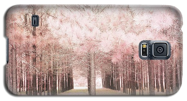 Galaxy S5 Case featuring the photograph Dreamy Shabby Chic Pink Nature Pink Trees Woodlands - Pink Nature Nursery Prints Decor by Kathy Fornal