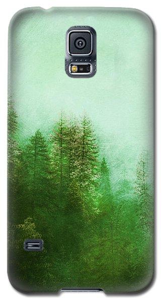 Galaxy S5 Case featuring the digital art Dreamy Spring Forest by Klara Acel