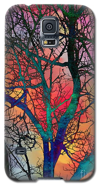 Galaxy S5 Case featuring the digital art Dreamy Sunset by Klara Acel