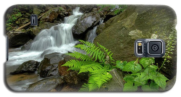 Galaxy S5 Case featuring the photograph Dreamy Waterfall Cascades by Debra and Dave Vanderlaan