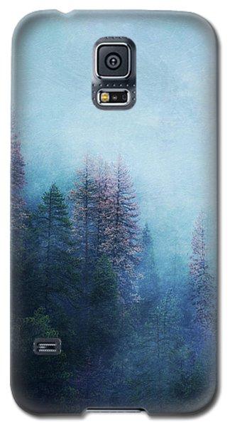 Galaxy S5 Case featuring the digital art Dreamy Winter Forest by Klara Acel
