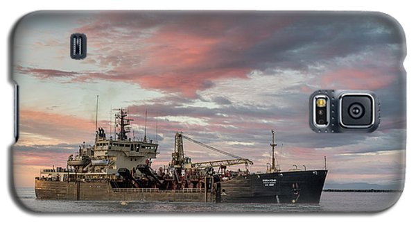 Galaxy S5 Case featuring the photograph Dredging Ship by Greg Nyquist