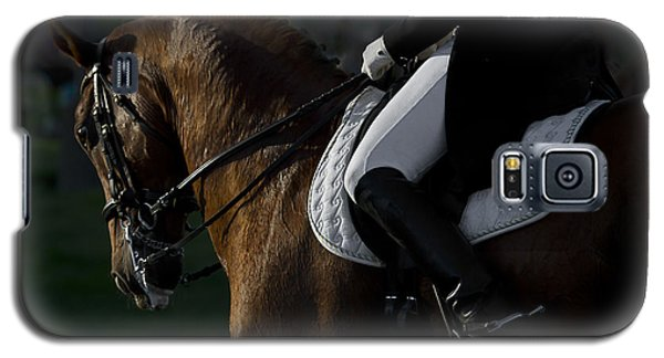 Galaxy S5 Case featuring the photograph Dressage D5284 by Wes and Dotty Weber