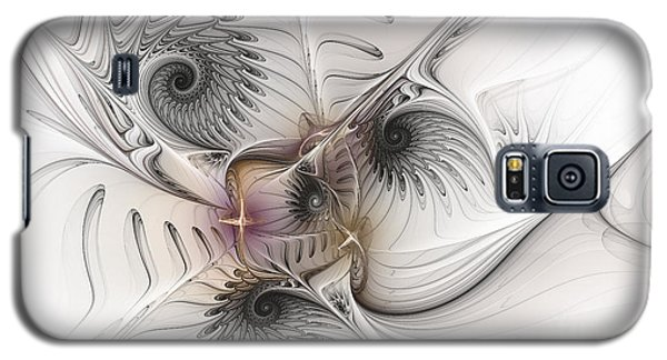 Galaxy S5 Case featuring the digital art Dressed In Silk And Satin by Karin Kuhlmann