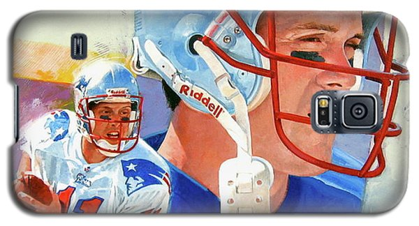 Galaxy S5 Case featuring the painting Drew Bledsoe by Cliff Spohn