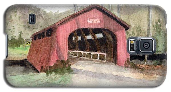 Drift Creek Covered Bridge Watercolor Galaxy S5 Case