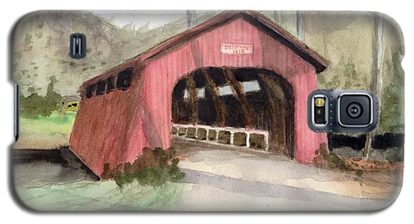 Drift Creek Covered Bridge Watercolor Galaxy S5 Case
