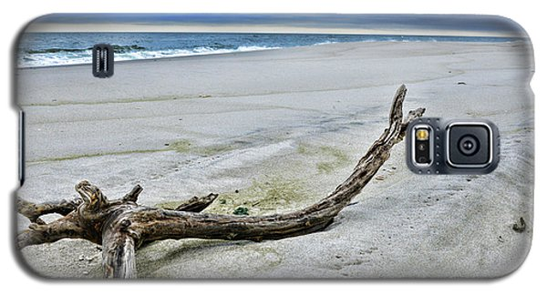 Galaxy S5 Case featuring the photograph Driftwood On The Beach by Paul Ward