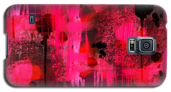 Galaxy S5 Case featuring the digital art Dripping Pink by Lisa Noneman