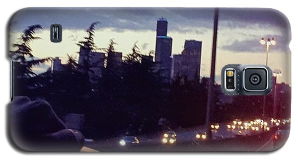 Skylines Galaxy S5 Case - Drive Thru Seattle #enlight #highway by Joan McCool