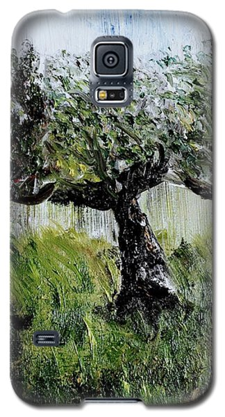 Galaxy S5 Case featuring the painting Drizzle by Evelina Popilian