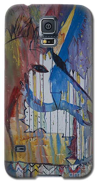 Galaxy S5 Case featuring the painting Drizzled Unicorn  by Avonelle Kelsey