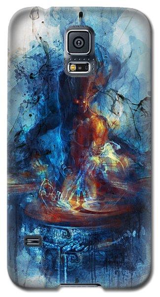 Galaxy S5 Case featuring the digital art Drum by Te Hu