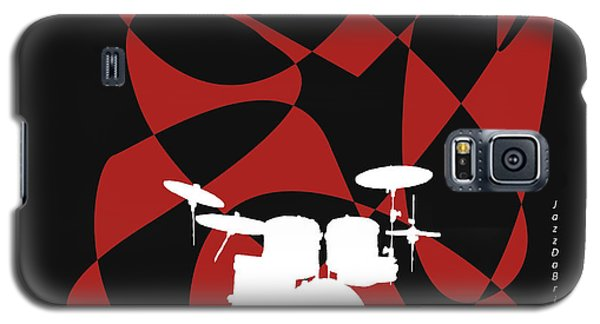 Drums In Black Strife Galaxy S5 Case by David Bridburg