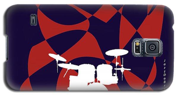 Drums In Purple Strife Galaxy S5 Case by David Bridburg