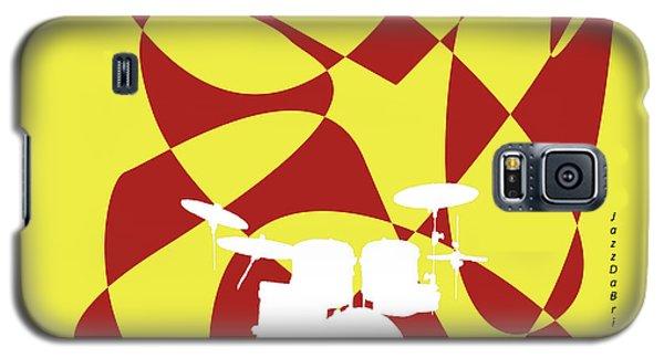 Drums In Yellow Strife Galaxy S5 Case by David Bridburg