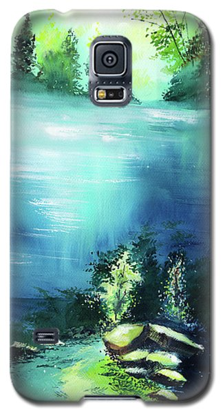 Galaxy S5 Case featuring the painting Duality by Anil Nene