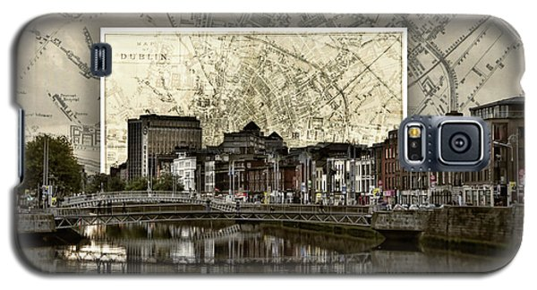 Dublin Skyline Mapped Galaxy S5 Case
