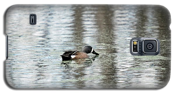 Galaxy S5 Case featuring the photograph Duck Alone by Teresa Blanton