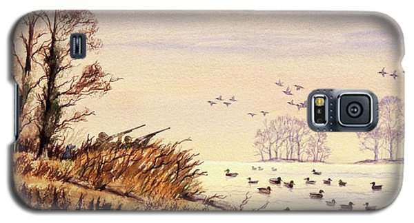 Galaxy S5 Case featuring the painting Duck Hunting Times by Bill Holkham