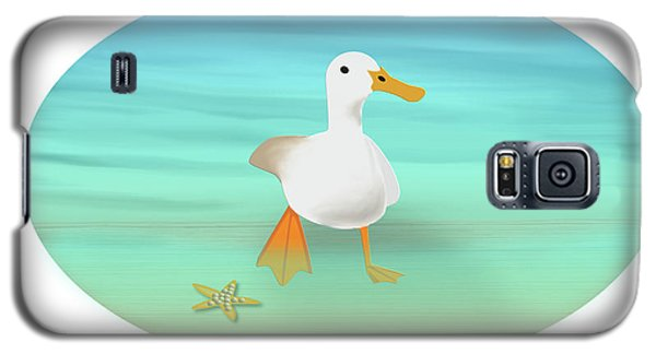 Duck Paddling At The Seaside Galaxy S5 Case