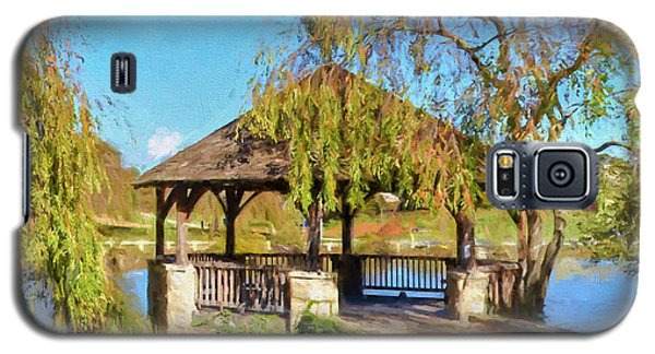 Duck Pond Gazebo At Virginia Tech Galaxy S5 Case by Kerri Farley