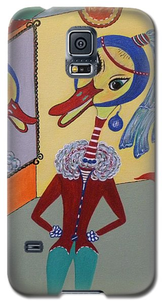 Duck With A Sapphire-pearl Earring Galaxy S5 Case