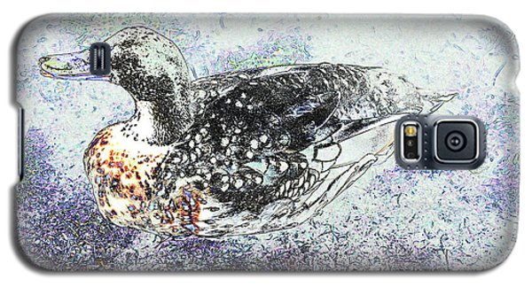 Galaxy S5 Case featuring the photograph Duck With Fine Plumage by Nareeta Martin