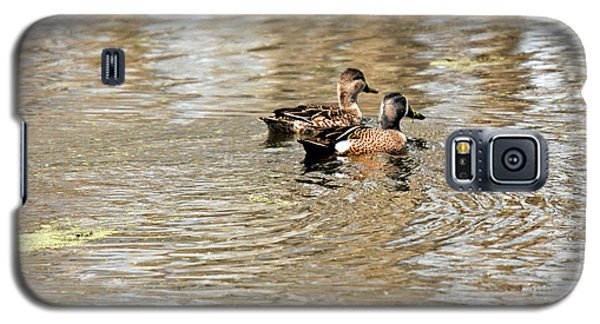 Galaxy S5 Case featuring the photograph Ducks Together by Teresa Blanton