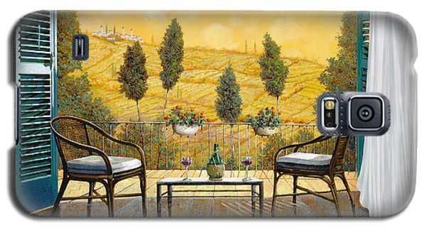 Wine Galaxy S5 Case - due bicchieri di Chianti by Guido Borelli