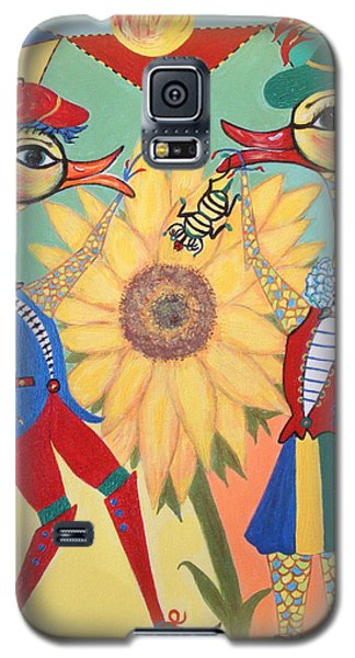 Galaxy S5 Case featuring the painting Duke Have A Honey-bee by Marie Schwarzer