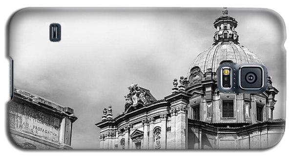 Duomo Of Santi Luca E Martina And Arch Of Septimius Severus  Galaxy S5 Case