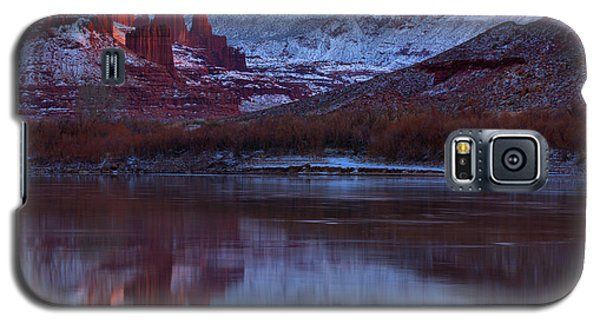 Galaxy S5 Case featuring the photograph Dusk At Fisher Towers by Adam Jewell