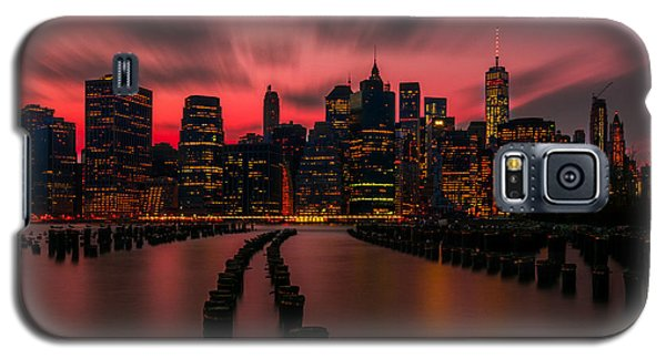 Galaxy S5 Case featuring the photograph Dusk Manhattan by RC Pics