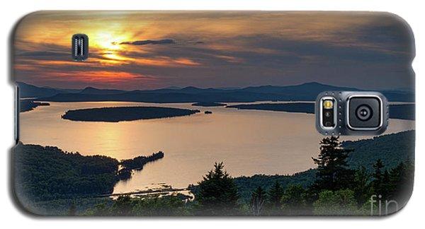 Galaxy S5 Case featuring the photograph Dusk, Mooselookmeguntic Lake, Rangeley, Maine -63362-63364 by John Bald
