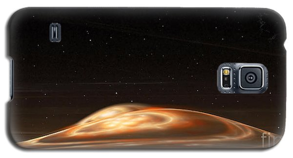 Galaxy S5 Case featuring the digital art Dust Storm On The Red Planet by Richard Ortolano