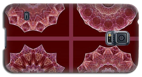 Dusty Rose Mandala Fractal Set Galaxy S5 Case