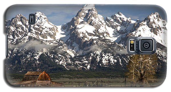 Dwarfed By The Teton Mountain Ange Galaxy S5 Case by Adam Jewell
