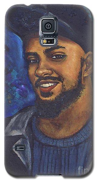 Galaxy S5 Case featuring the painting E by Alga Washington