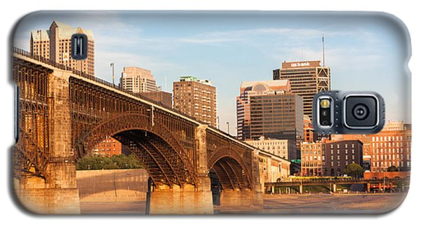 Eads Bridge At St Louis Galaxy S5 Case by Semmick Photo