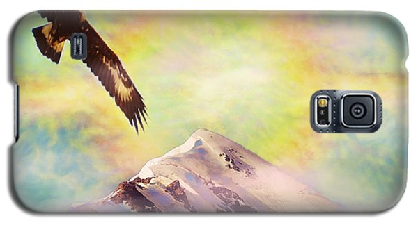 Eagle And Fire Rainbow Over Mt Tetnuldi Caucasus II Galaxy S5 Case by Anastasia Savage Ealy